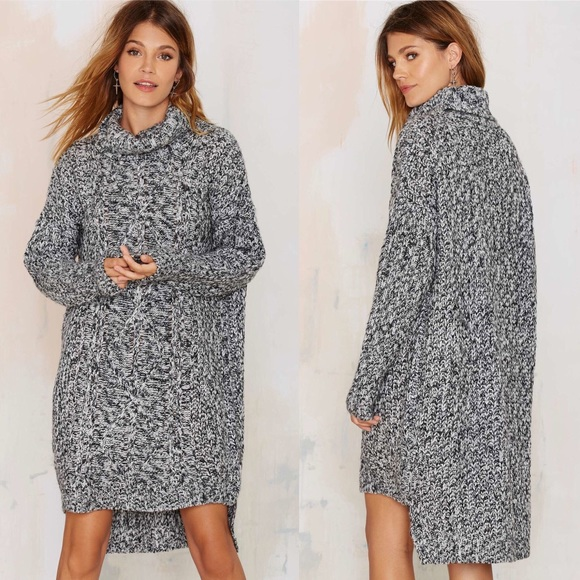 30e1c8e42bb Nasty Gal deal with it sweater dress